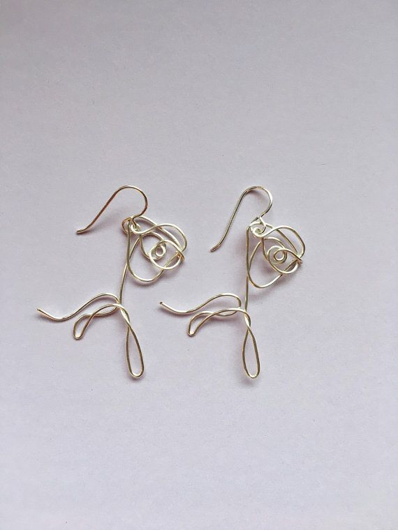 85791e6c2442d BTS Love Yourself Flower Wire Earrings | KPOP | Wire earrings ...