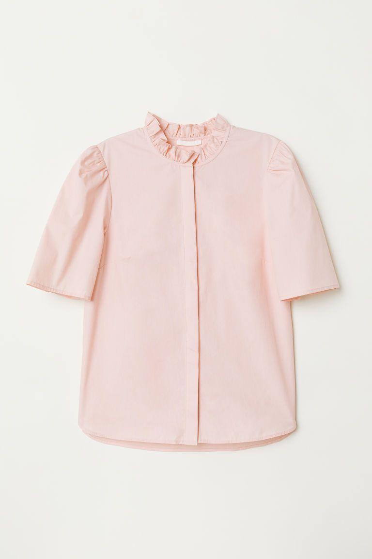 lichtroze blouse dames