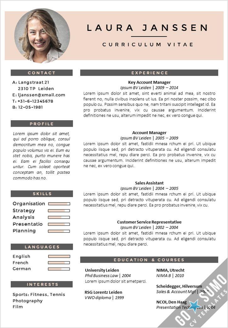 CV Template Milan Creative cv template, Cv template