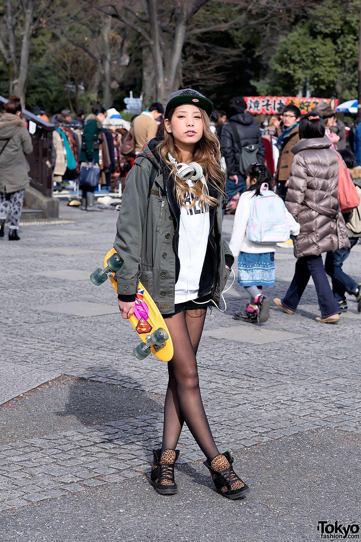 Headphone Girl Skater Girl Cap Headphones Girl Pinterest Harajuku Skater Girls And