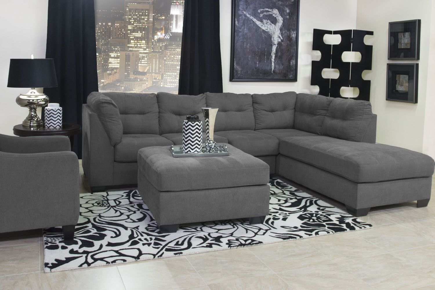 Mor Furniture For Less The Maier Right Facing Chaise Sectional
