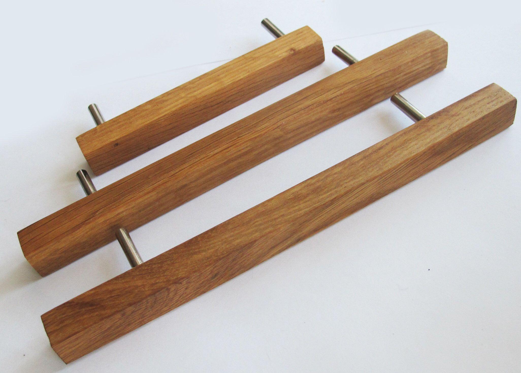 Oak Wood Drawer Pulls Set Of 2 Wooden Drawer Handles Modern