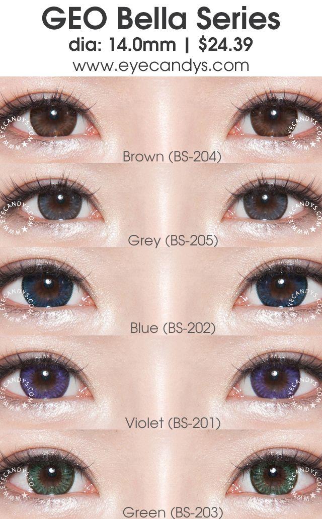 bc2de5a22e7 GEO Bella series circle lens (colored contact lenses) - GEO Bella colour  contacts consist
