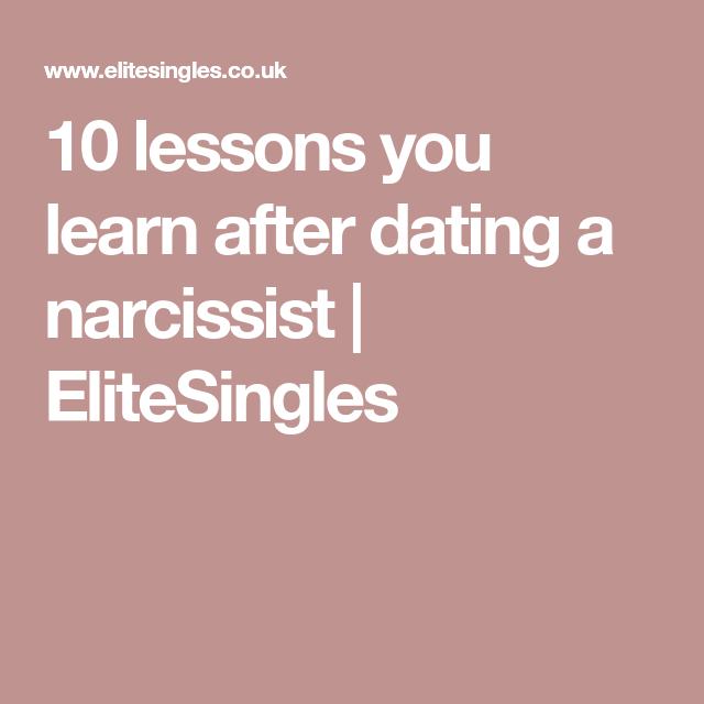 what to do after dating a narcissist