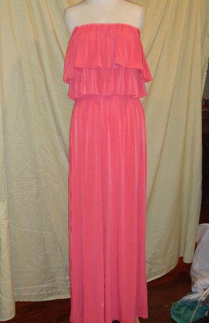 Suzi Chin Ruffle Maxi Dress in Orange              Size 18W