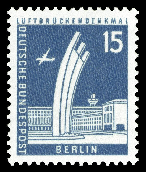 Deutsche Bundespost Berlin 1956 Luftbrückendenkmal in
