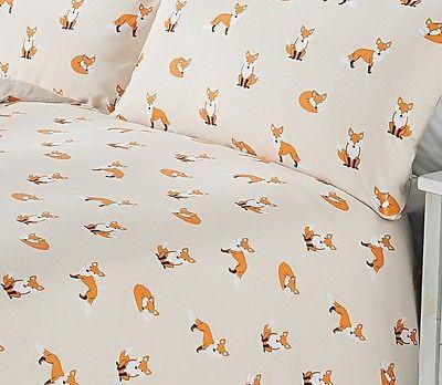 Shabby Chic Animal Fox Print Duvet Cover Set Size Single Double King George Home Duvet Bedding Duvet Cover Sets