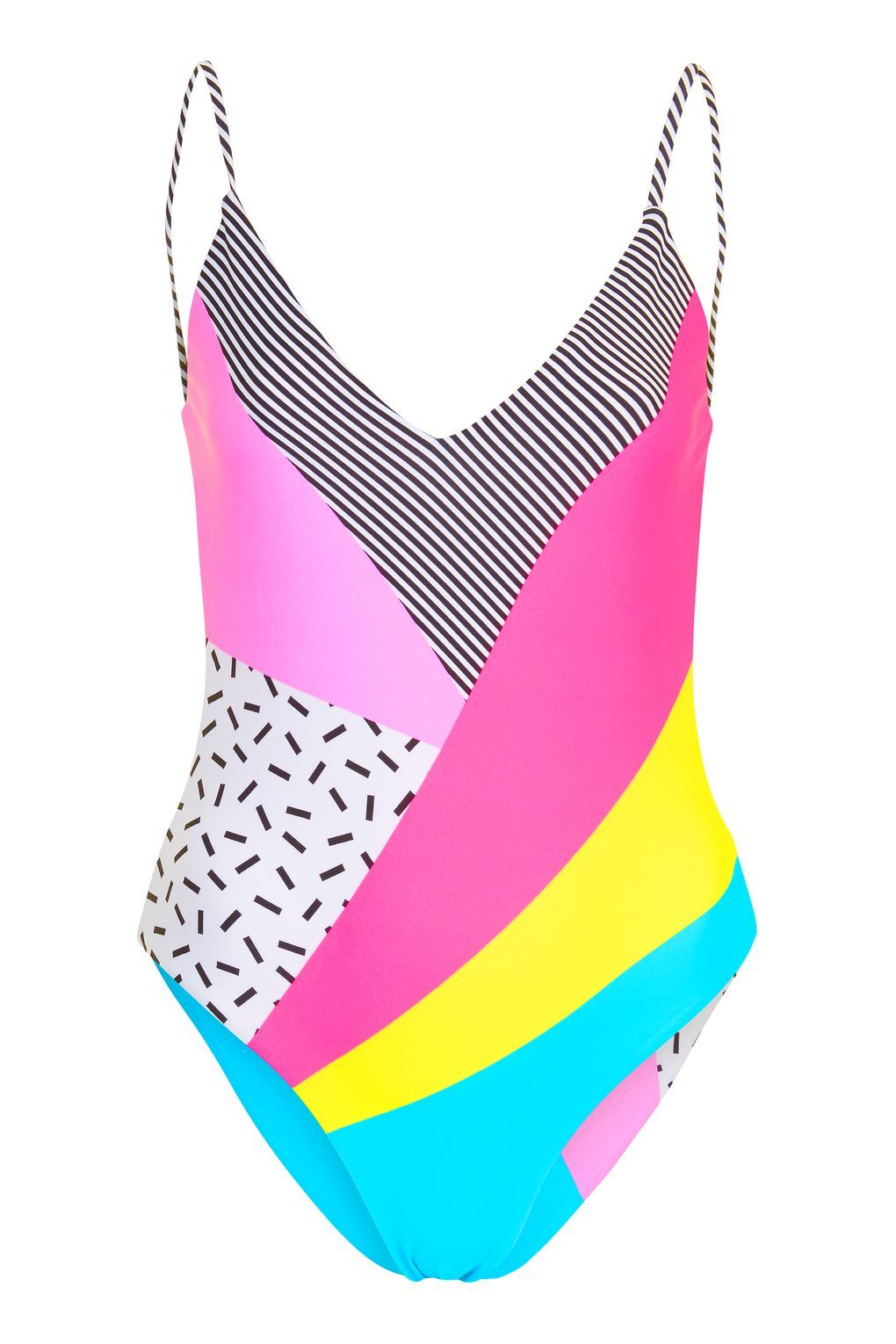 cecb89e6a4b 80s Patchwork Swimsuit in 2019 | xanadu | 80s swimsuit, Swimsuits ...