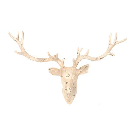 Now Itu0027s Easy To Have That Majestic, Prestigious Mounted Deer Display Of  Your Own With The Country Charming Distressed White Deer Head Wall Plaque!