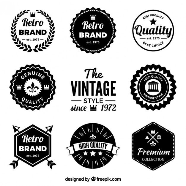 Download Retro Black Badges For Free Vintage Logo Design Vintage Logo Retro