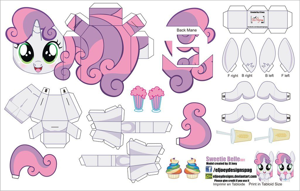 Sweetie Belle 001 (Joinys 2.0) by ELJOEYDESIGNS.deviantart.com on @DeviantArt