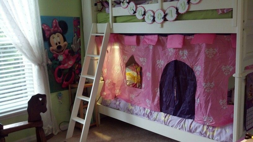 Princess castle bunk bed out of Discovery Kids princess castle tent! The tent was less & Princess castle bunk bed out of Discovery Kids princess castle ...