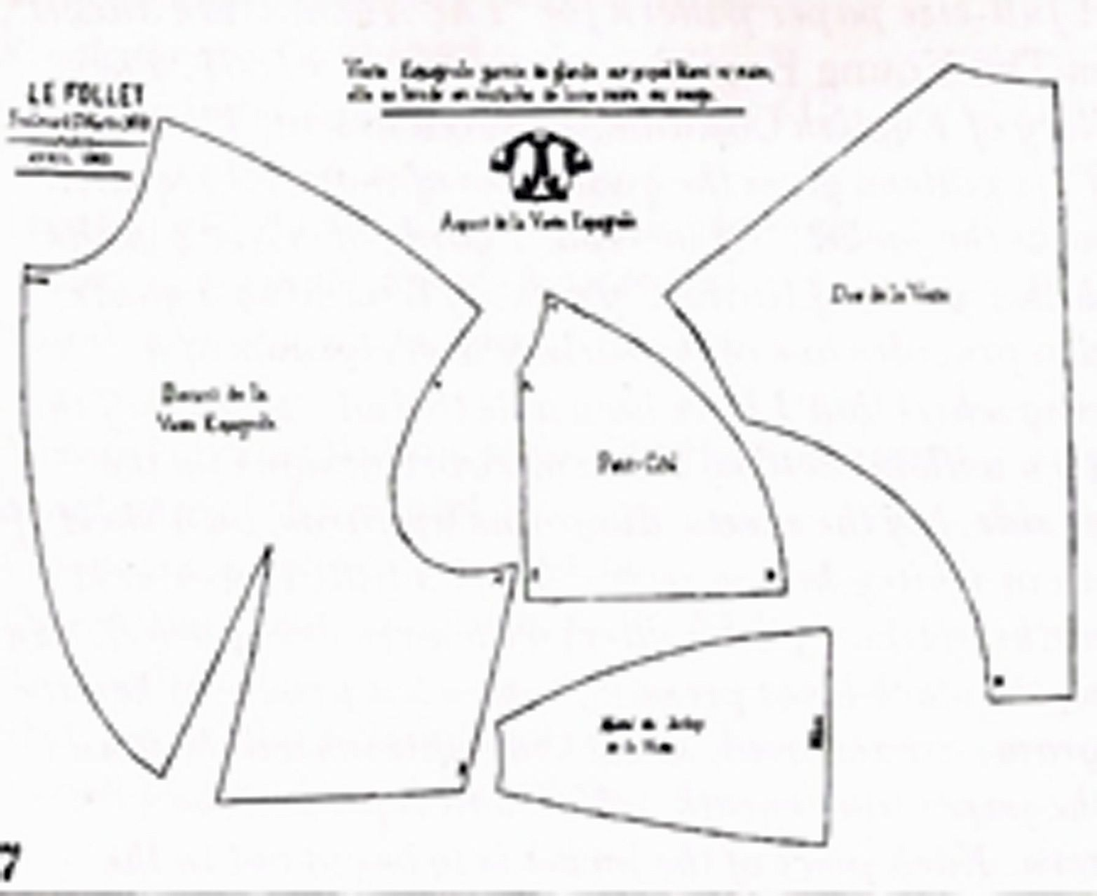 Bolero: pattern and tips on sewing
