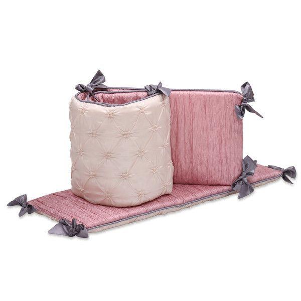 Crib Bumper Set Baby, The Peanut Shell Bella 6 Piece Crib Bedding Set