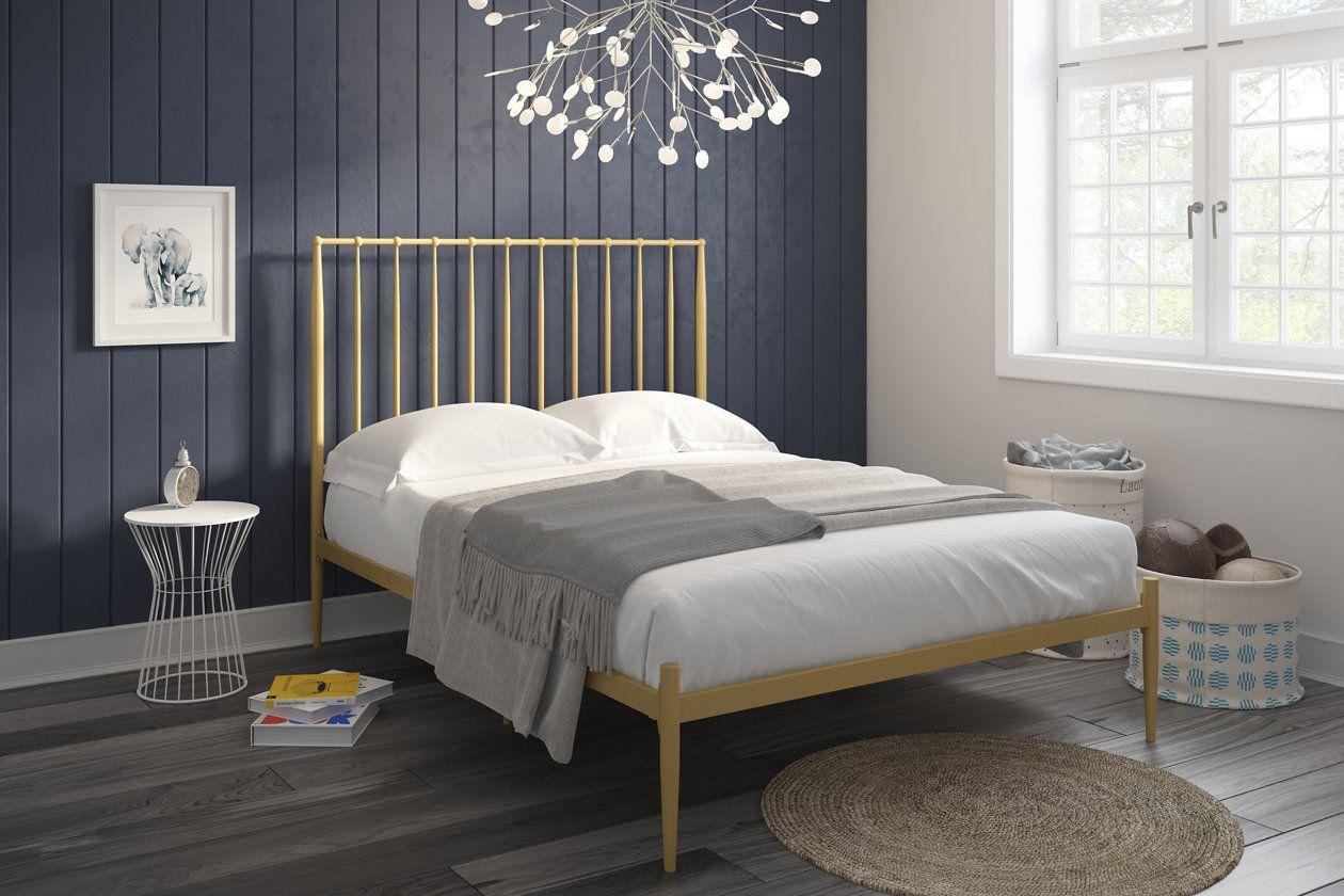 Dunston Metal Queen Bed Metal Platform Bed Modern Platform Bed