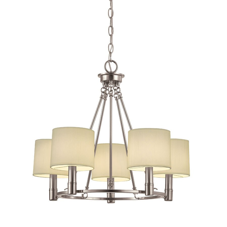 Portfolio 5 Light Aztec Brushed Nickel Chandelier Lowe S Canada