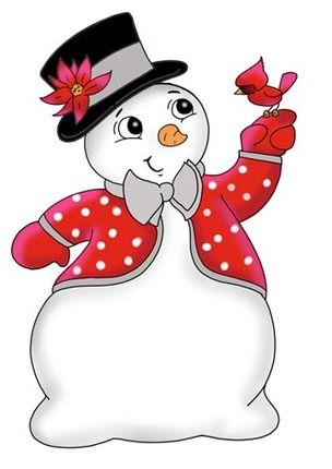 Snowboy Top Hat Cardinal By Ronnie Rooney Christmas Art Christmas Digi Stamps Snowman Drawings