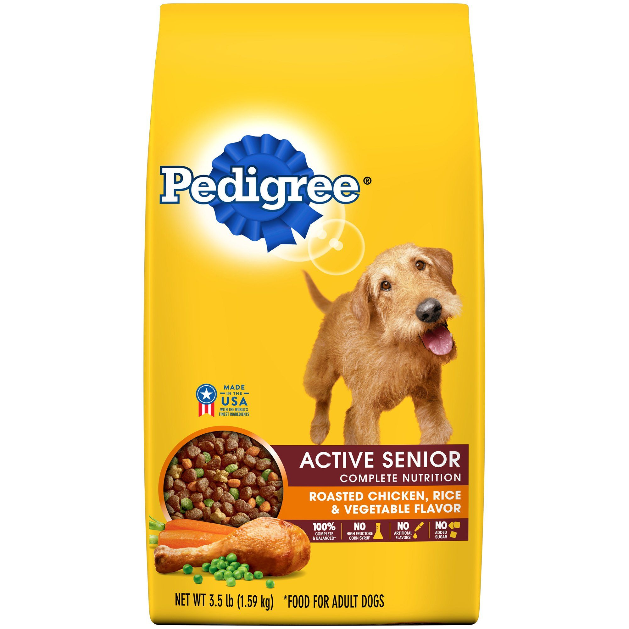 Pedigree Active Senior Roasted Chicken Rice And Vegetable Flavor