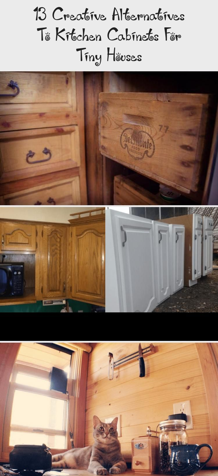 Kitchen Cabinets For Tiny Houses 13 Alternative Designs Tinyhousediycheapdesign In 2020 Kitchen Cupboard Designs Kitchen Cabinets Tiny House