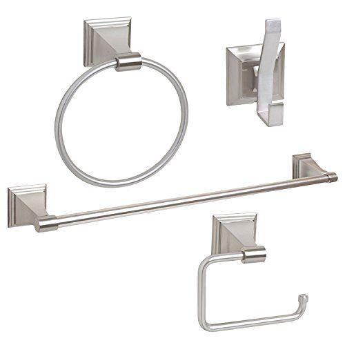4 Piece Bathroom Hardware Accessory Set With 24 Towel Bar Satin