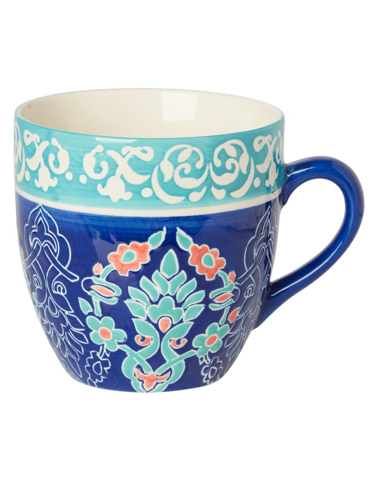 TILLY XL krus blå Mugs/cups null Glas & Porslin