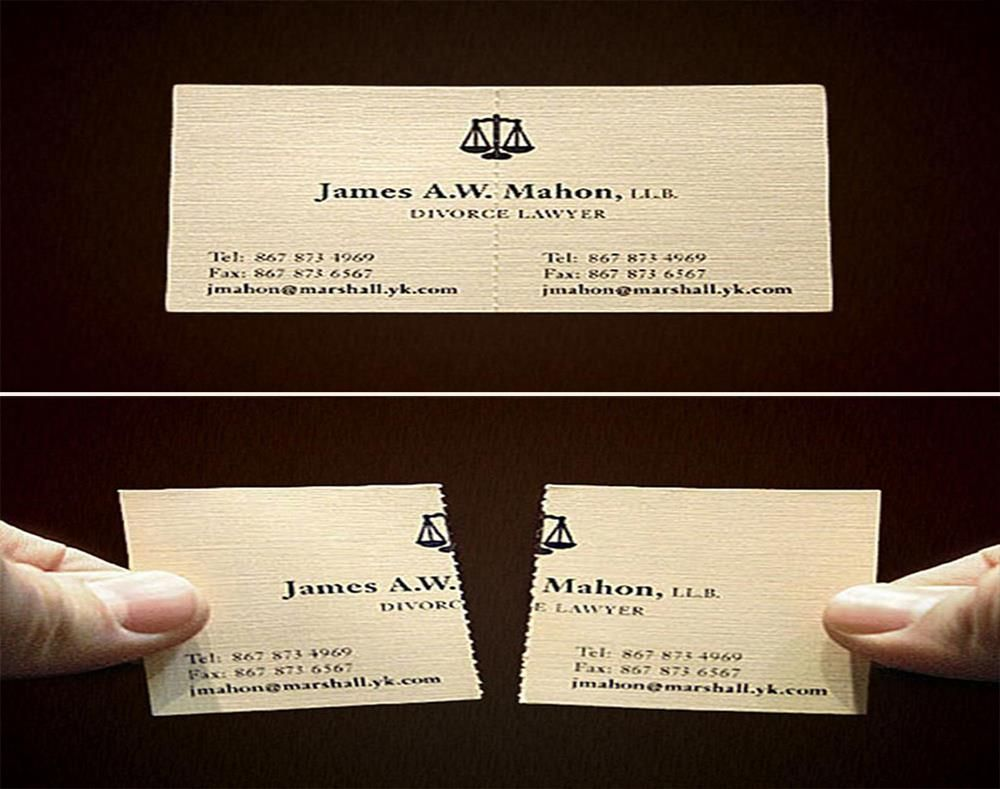 Carte Avocat Visite Divorce Mariage Malin Cratif