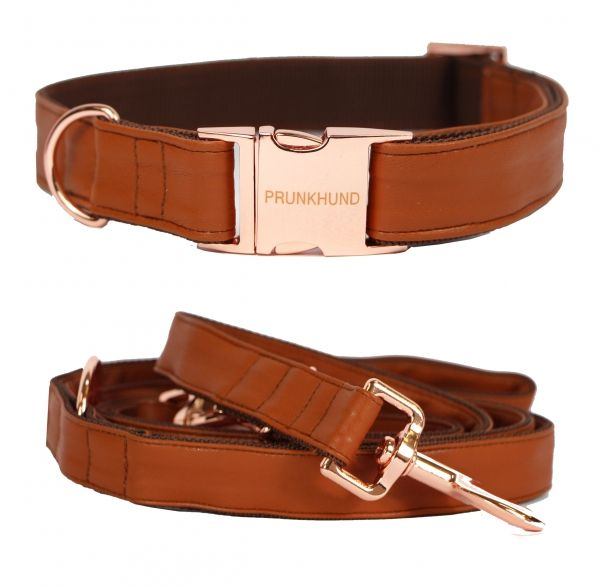 NEW IN on www.prunkhund.com! The TOBACCO collar and leash are made for the most stylish pups in town!