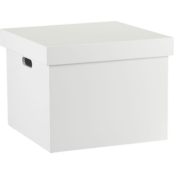 White File Box Cb2 With Images Modern Desk Accessories