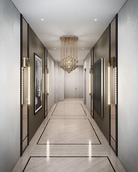 Pin by on decore corridor design luxury for Hotel corridor decor