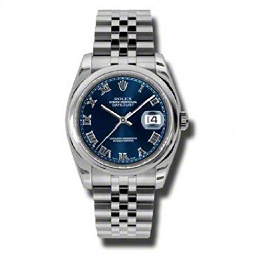Rolex Datejust Blue Dial Stainless Steel Jubilee Bracelet Mens Watch #stainlesssteelrolex