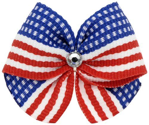Puppy Kisses Dog Hair Bow, America - http://www.thepuppy.org/puppy-kisses-dog-hair-bow-america/