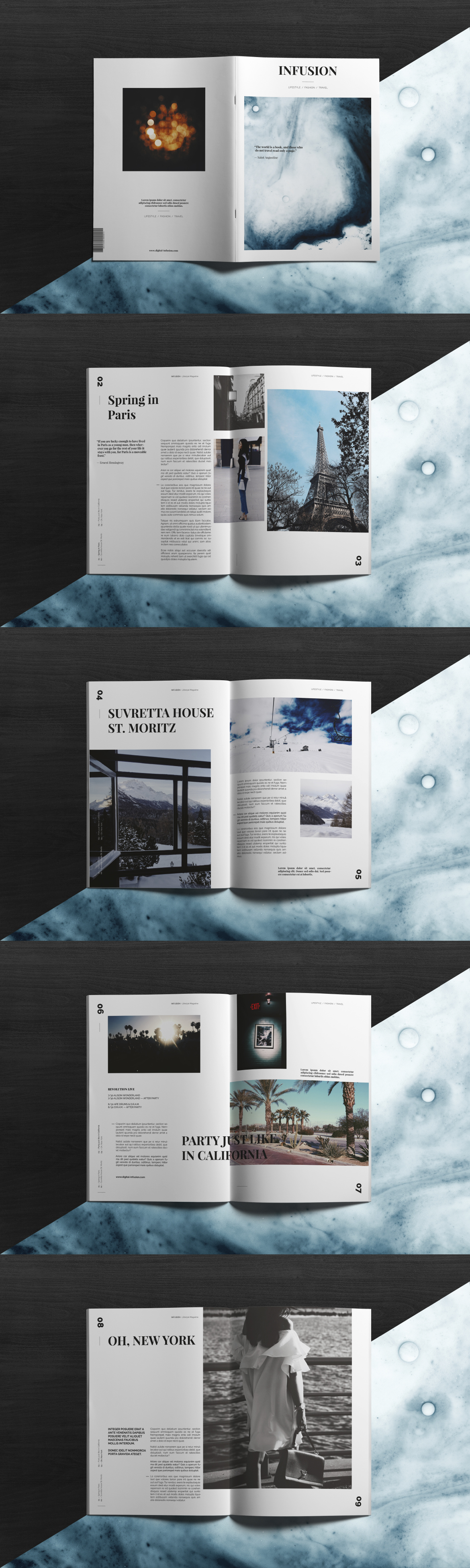 INFUSION — Lifestyle Magazine Template InDesign INDD | Best Magazine ...