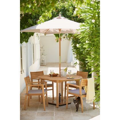 Garden Furniture Sets malmo 4 seater round teak garden furniture set | home<3