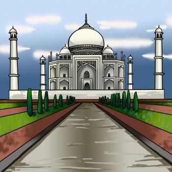 How To Draw The Taj Mahal By Koreacow Taj Mahal Drawing Taj