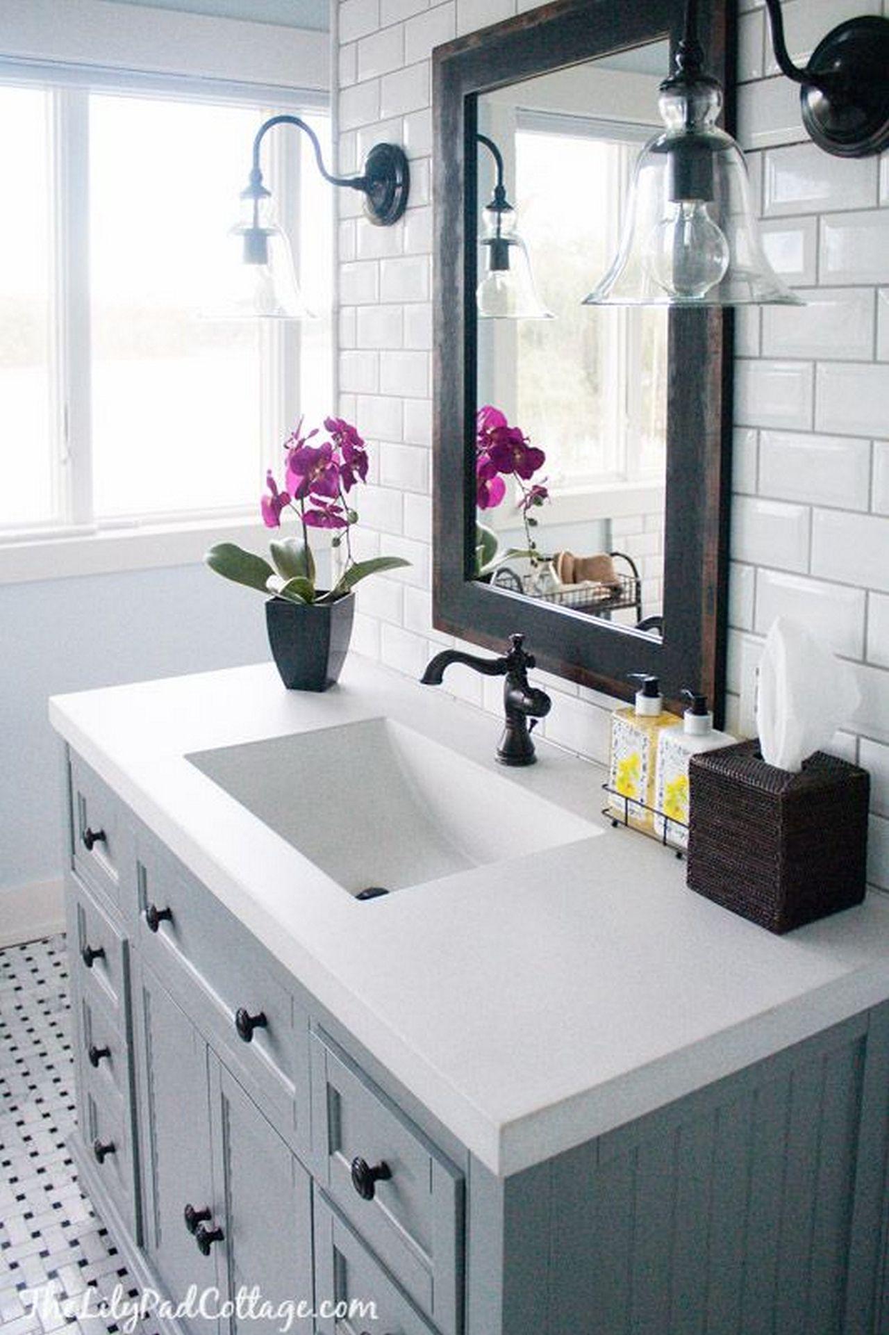 Badezimmer dekor rustikal  aufregende badezimmerdekorideen um von funktionell zu