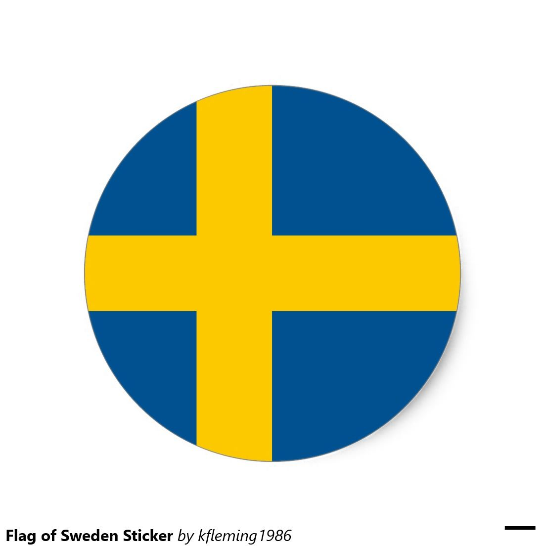 Flag Of Sweden Sticker Zazzle Com Sweden Flag Stickers Stickers Custom