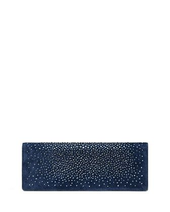 fcfeedb4c763 Broadway Suede Crystal Clutch Bag, Navy by Gucci at Neiman Marcus ...