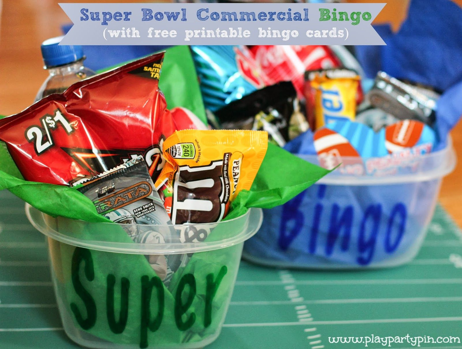 Free Printable Super Bowl Commercial Bingo