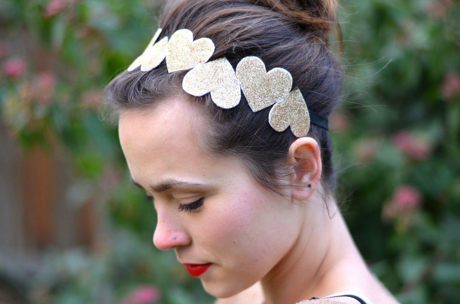 Paper Umbrella Blog: DIY Gold Heart Headband