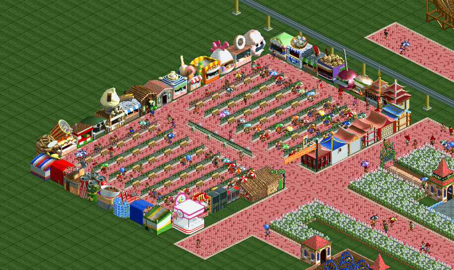 IronSkelly Food Court Map 1 Server 2 Man Of Teal Open RCT2