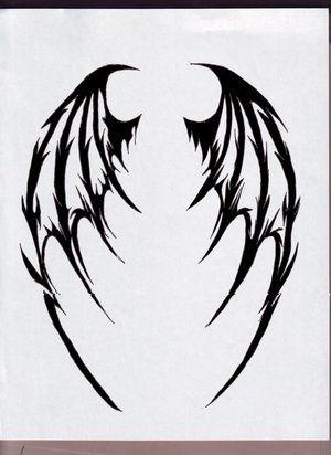 Demonic Wings Tattoo : demonic, wings, tattoo, Tattoo, Wings, Tattoo,, Demon