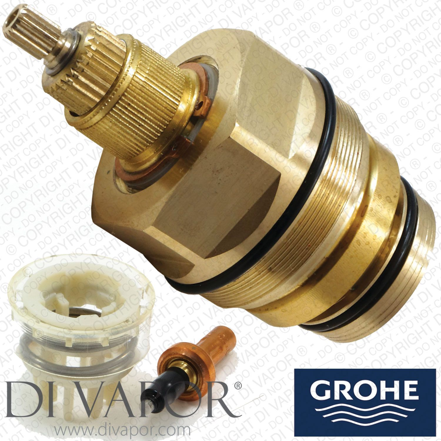 Grohe 47767000 Thermostatic Cartridge With Wax Thermostat And