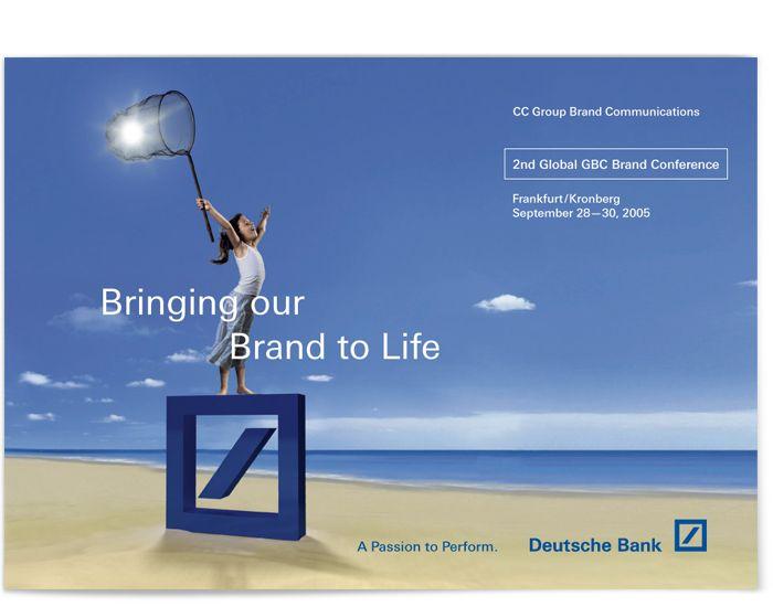 Deutsche Bank, Brand Conferences Bank branding, Deutsch