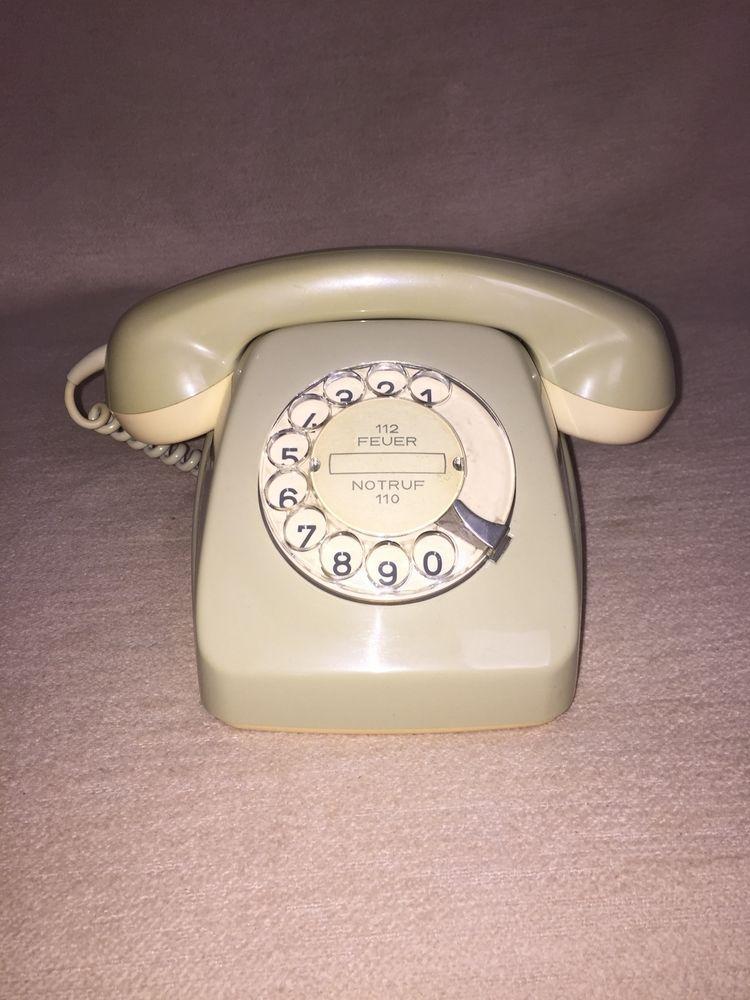 Altes Wahlscheiben Post Telefon Fetap 611 2 Rb C Vintage Post