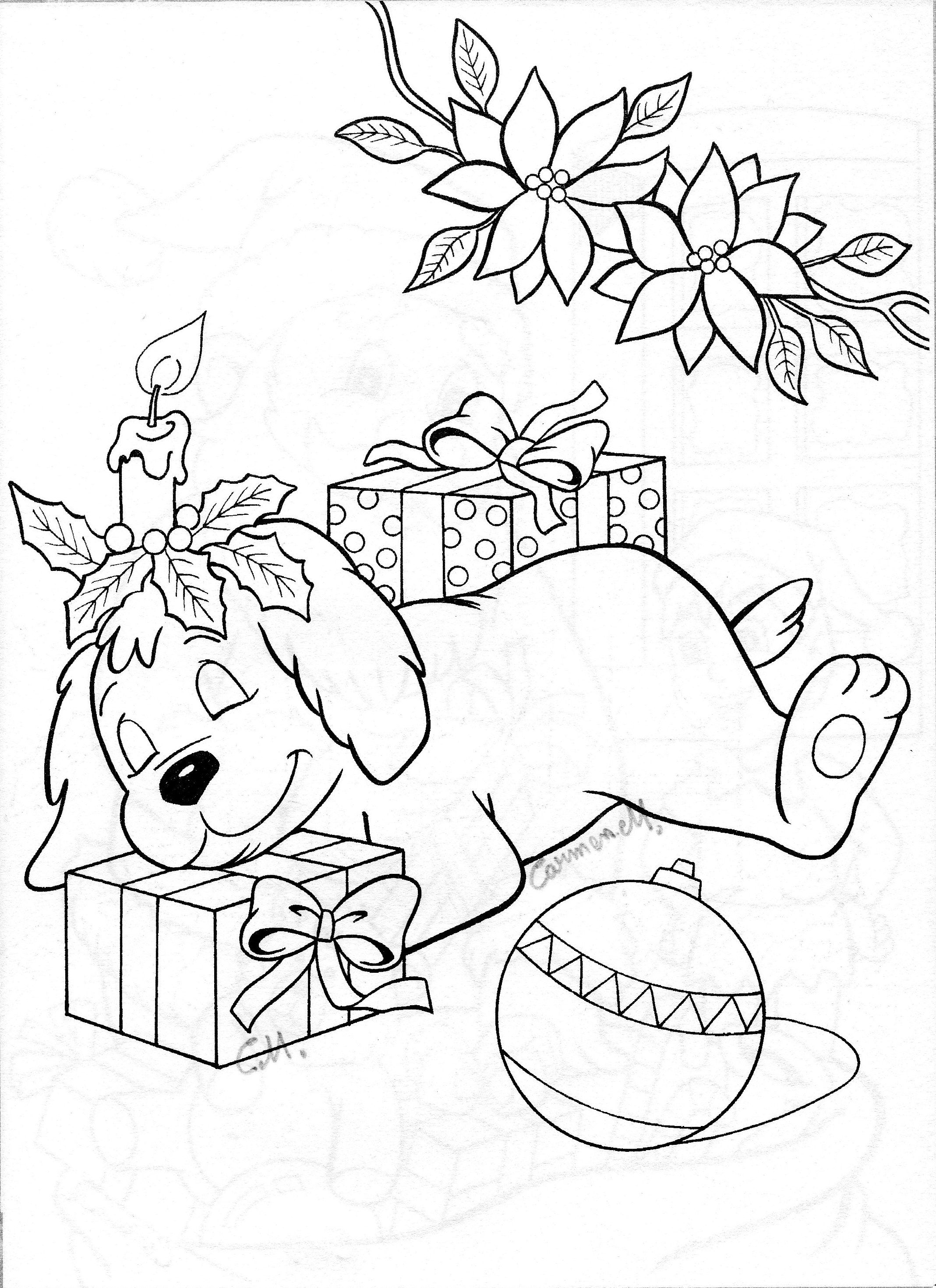 Christmas Gifts For Women Cards Coloring Pages Adult Books Digital Stamps Puppys Color