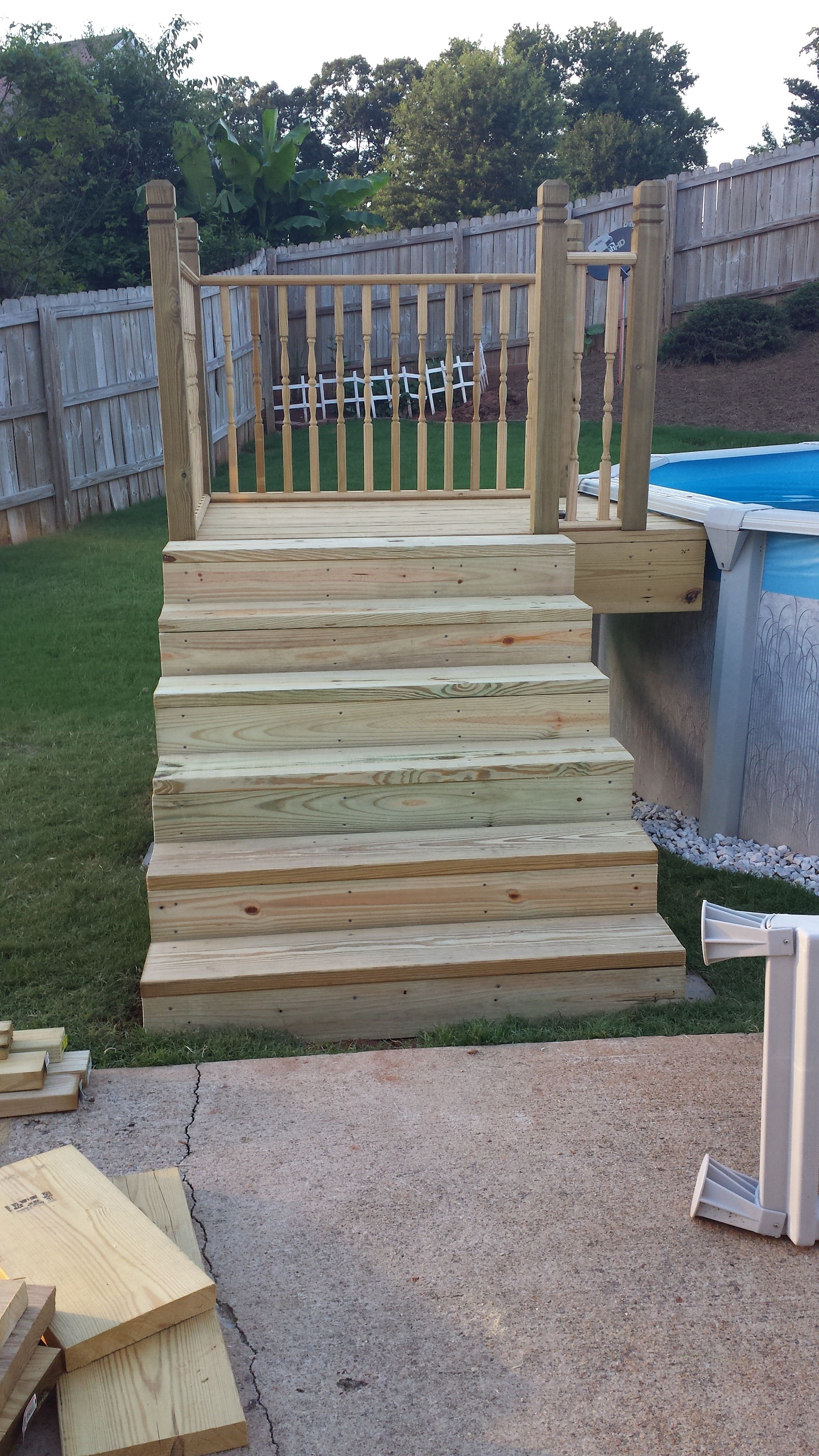Pool Steps 4x4 Platform See The Finished One On My Other Post