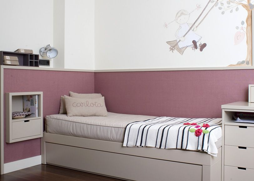 Mesilla y papel pared habitaciones de ninos pinterest - Papel pared nina ...