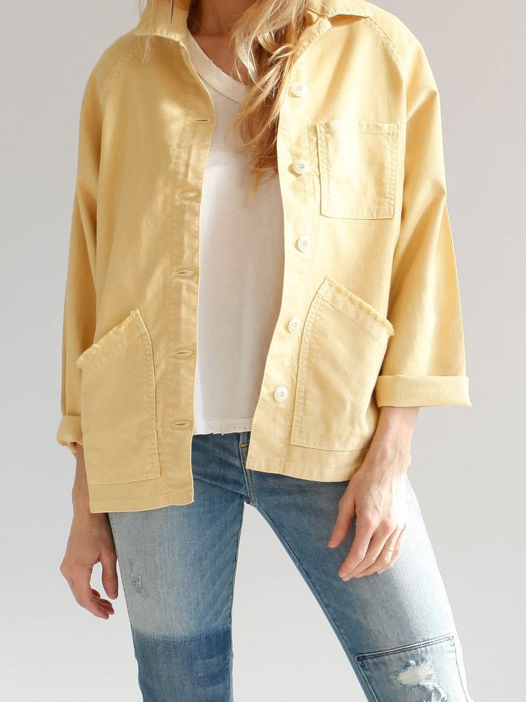 The Great - The Field Jacket in Golden: This field inspired jacket is cut in our signature soft Japanese twill