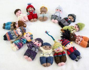 Cute Amigurumi Knitting Patterns : Knitted amigurumi dolls small knitted dolls pocket dolls knit