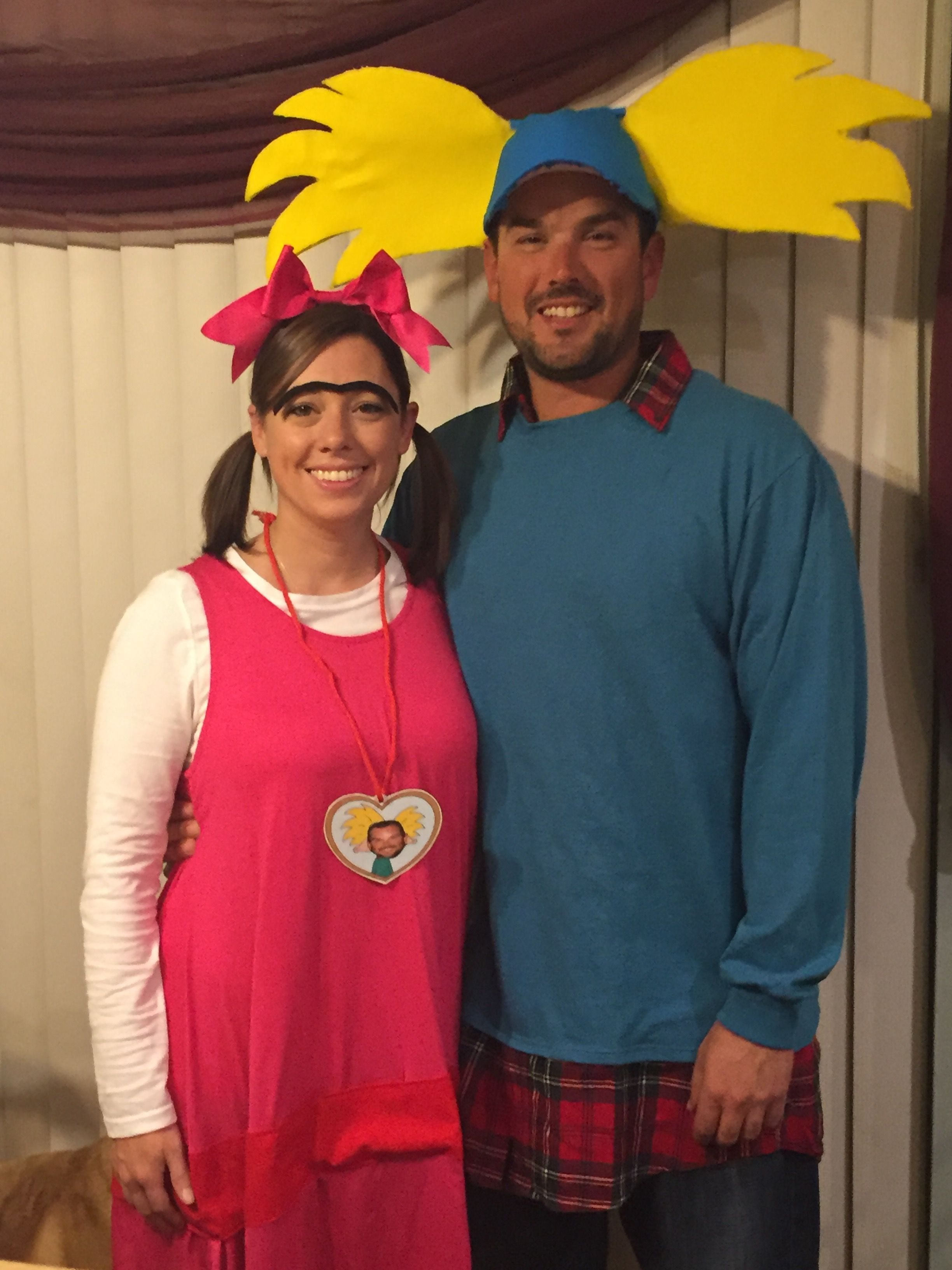 hey arnold halloween costumes couples diy nickelodeon 90s helga